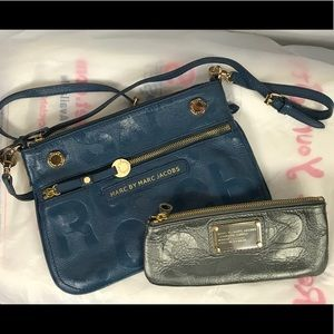 Handbags - MARC BY MARC JACOBS LOT CROSSBODY BAG AND POUCH